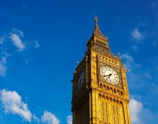A picture of the Big Ben in London