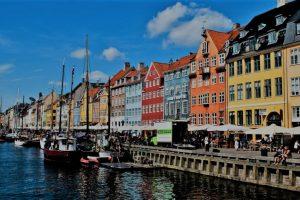 Picture of Copenhagen port area, the nyhavn