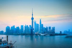 Dawn of Shanghai at Pudong