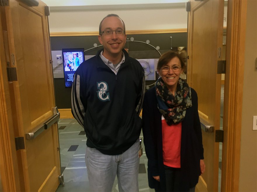 Jacqueline Drak with her research mentor, Phil Gafken, Director of Proteomics at Fred Hutch. Cancer Research Center.