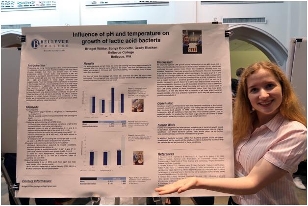 Bridgett Wittke at the UW Undergraduate Research Symposium