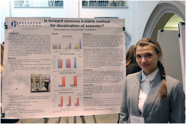 Kateryna Gomozova at the UW Undergraduate Research