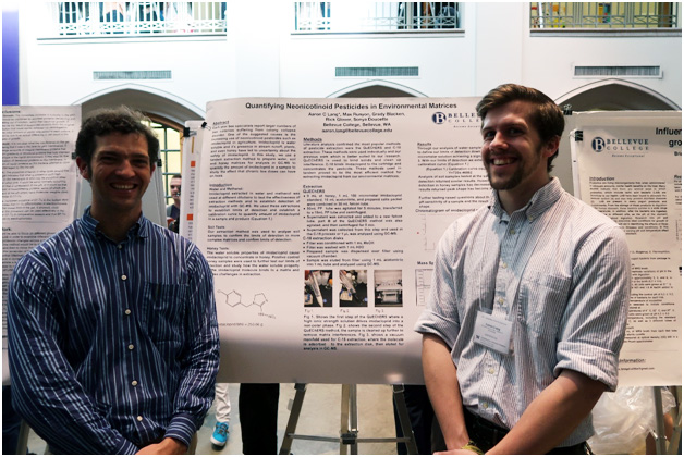 Rick Glover and student Aaron Lang at the UW Undergraduate Research Symposium
