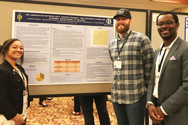 Brianna Manning, Jonathan Hignite, and Jasper Kinnay (Left to right) at the 2017 Western Psychology Association Meeting.