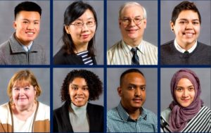 Photos of 8 diverse students who found internships with the help of the Center for Career Connections