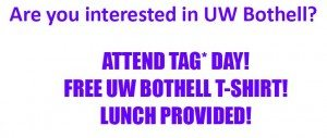 UW Bothell TAG Day Sign