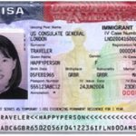 A Photo of Visa page