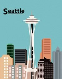 Illustration of Seattle skyline