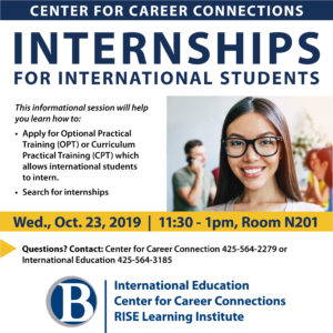 Fall 2019 - CPT Workshop for International Students