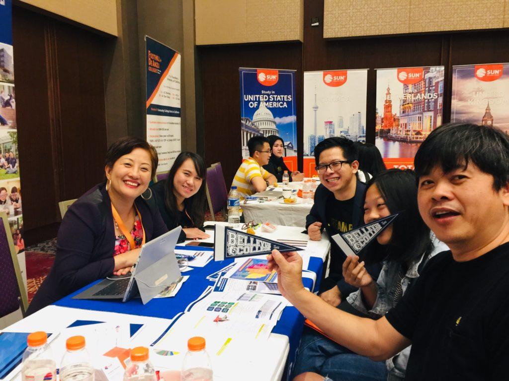 Family at Sun Education Group recruitment fair