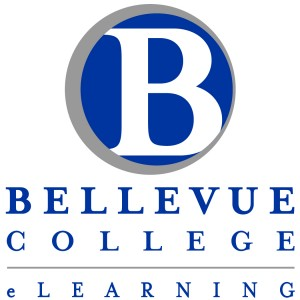 Bellevue College eLearning Vertical Logo