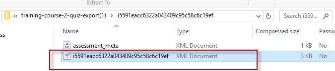 Locate the XML file in the Zipped folder