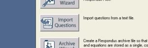 Open Respondus and select Import Questions