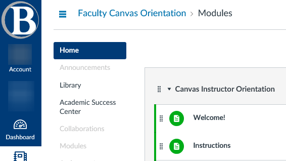 Faculty Canvas Orientation