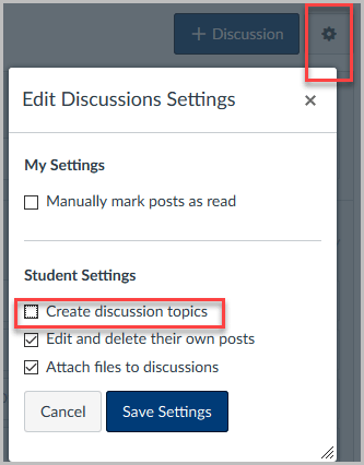 Course Merge Settings-Discussions