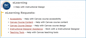 eLearning Request Center
