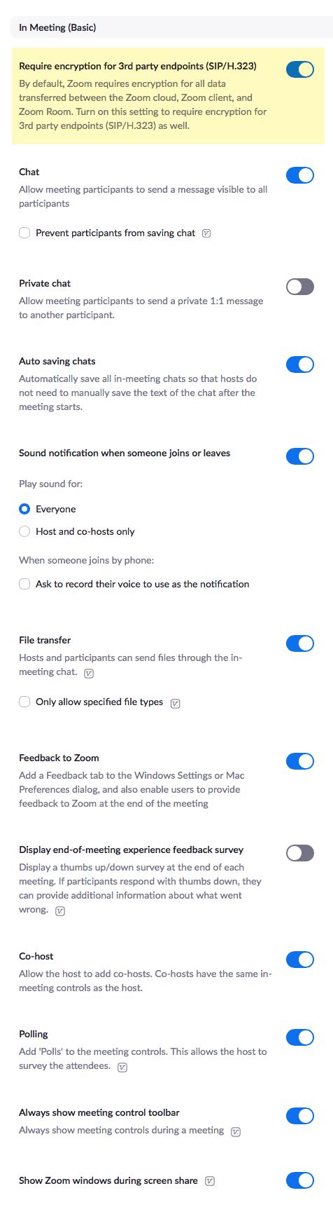 Zoom settings 3 of 7