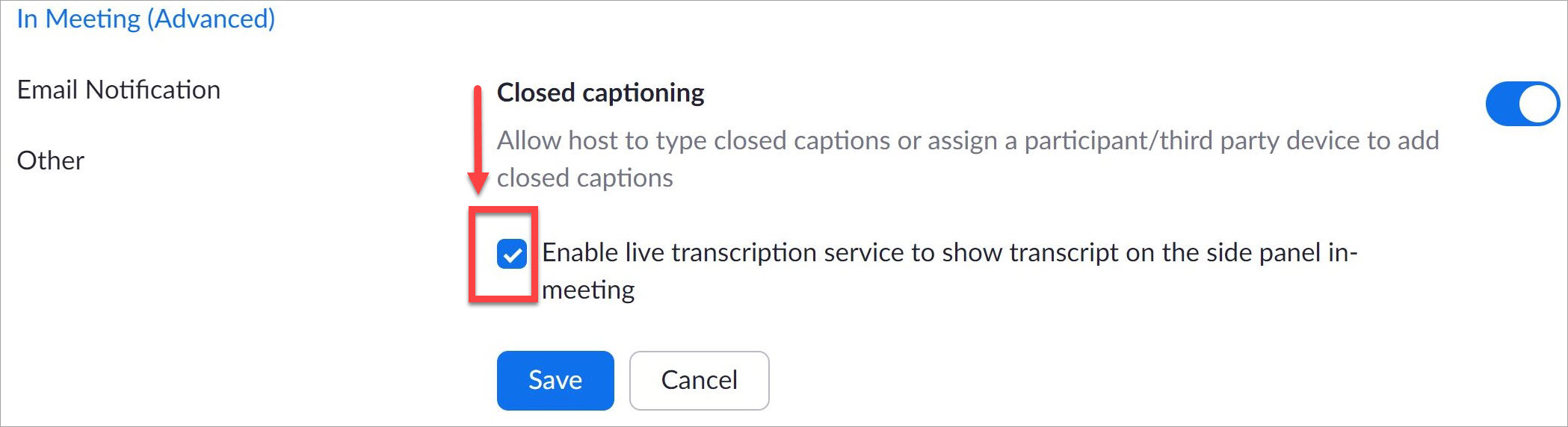 Enable Close Captions in Zoom as a Presenter