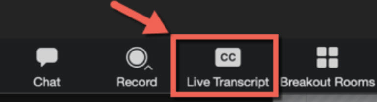 Enable Live Captions in a Zoom session