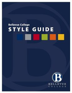 Image of the cover of the BC style guide