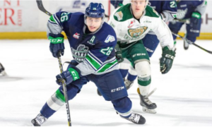 Seattle Thunderbirds in action on the ice