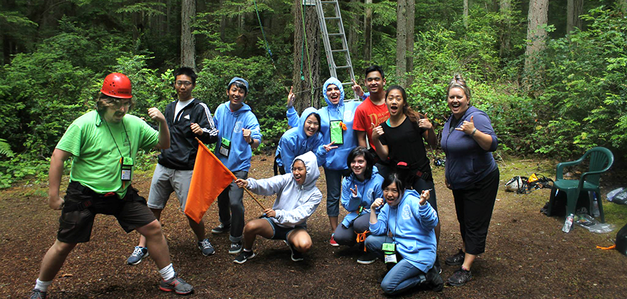 Orange team at Camp Casey ropes course. Want to learn more about Student Programs? Click the image to view our new Leadership Video!