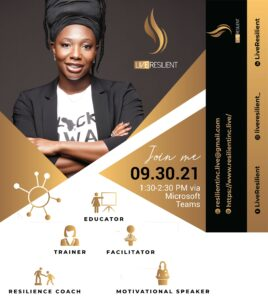 Live Resilient Sept. 30 @ 1:30 PM