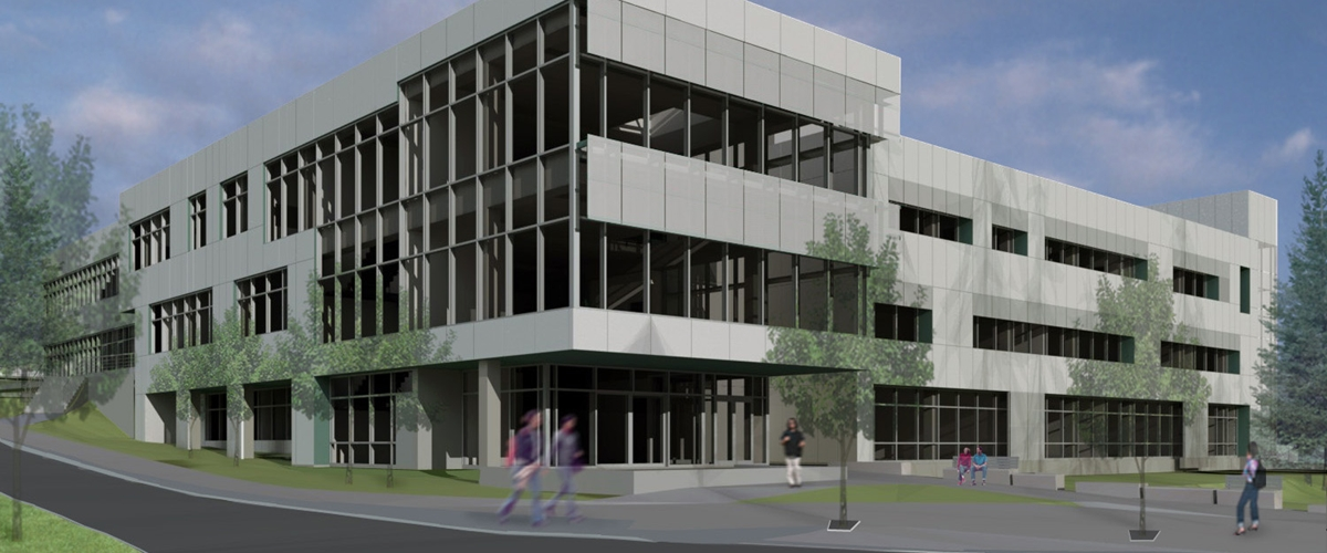 Architect's rendering of the Health Sciences Building