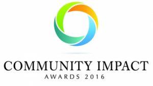 Logo for the community impact awards