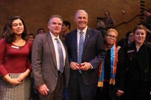 Dr. Weber and Gov. Jay Inslee
