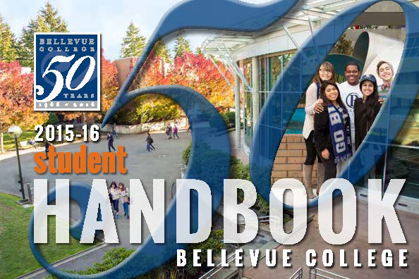 Cover of 2015-16 Bellevue College student handbook