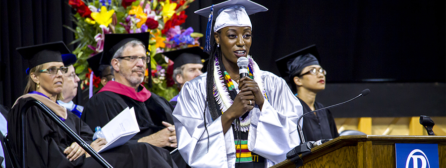 Melantha Jenkins at Commencement