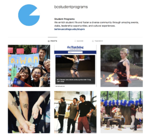 Screencapture of Instagram Page