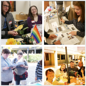 Photos of student organizations: LGBTQ Resource Center, ASG, Bulldogs Vote, and Affinity Group coordinators
