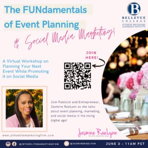 FUNdamentals of Event Planning, on Zoom at https://bellevuecollege.zoom.us/j/87820496412