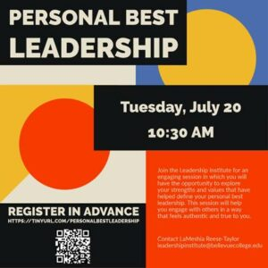 Personal Best Leadership Tuesday @ 10:30 AM