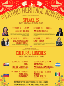 Latino Heritage Month speaker series and cultural lunches
