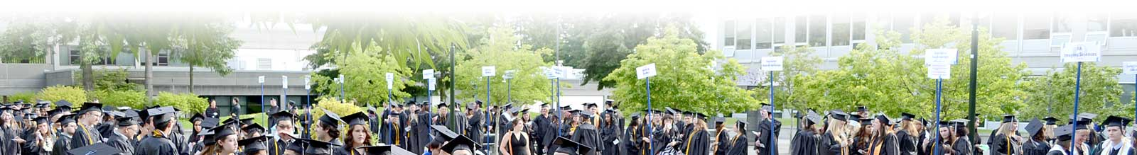 Bellevue College's graduating class waits outdoors