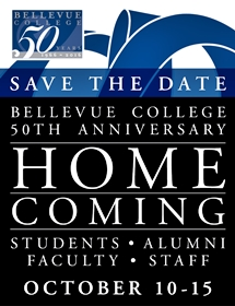 Save the Date, October 10-15, 2016, Belllevue College 50th Anniversary Homecoming