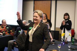 Justice Susan Owens at the reception.