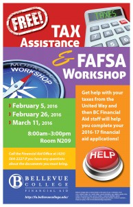 Tax FAFSA Workshop poster - text included