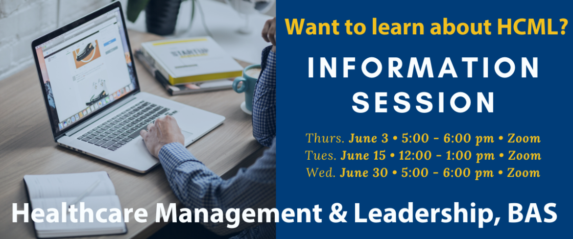HCML Information Sessions for Spring Quarter will be held 6/3 at 5pm, 6/15 at 12pm and 6/30 at 5pm via Zoom