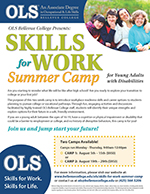 Skills For Work Summer Camp Flier