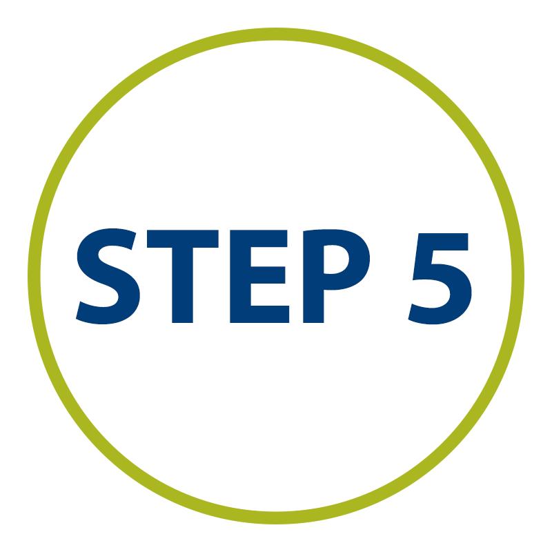 graphic: step five