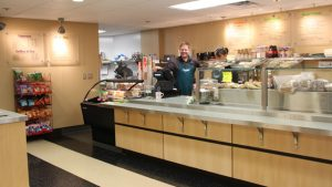 Popinjay's Cafe counter