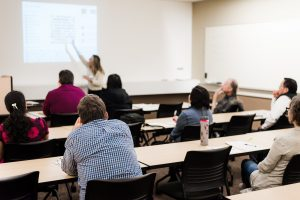 Students in a continuing education classroom
