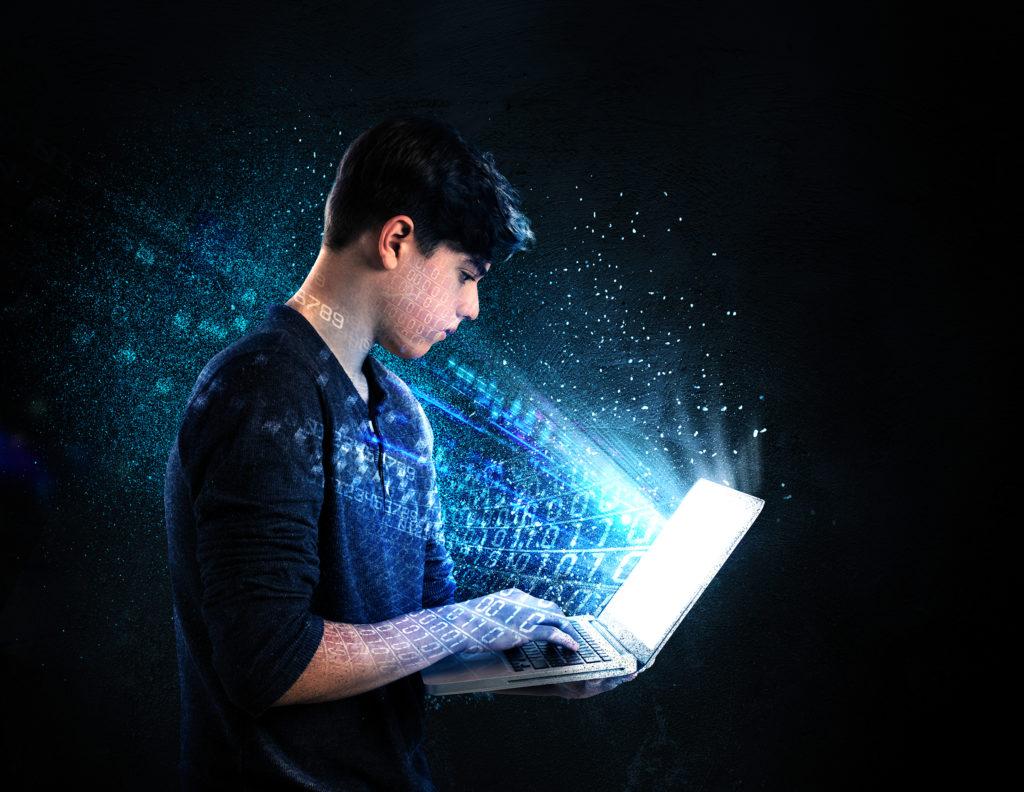 Teen on Computer
