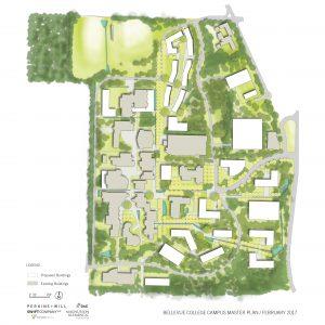 Vector map of Bellevue College's master plan