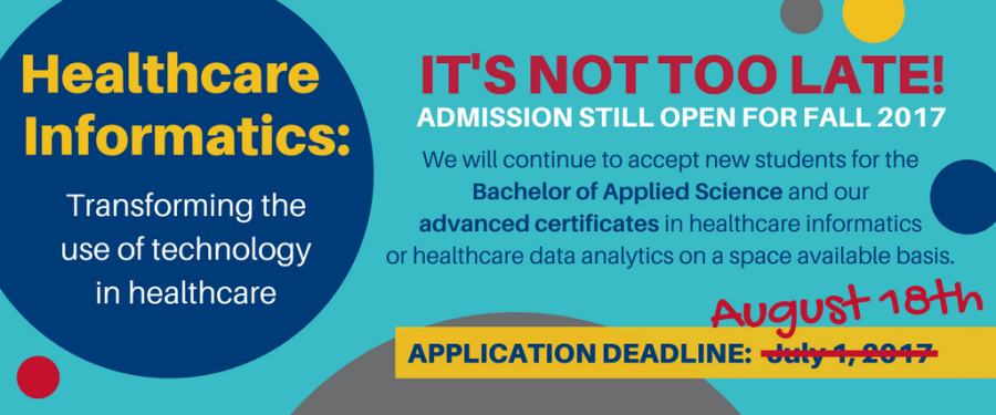accepting apps for Fall 2017 until August 18, 2017