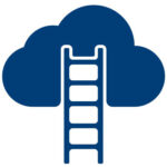 Ladder leading into the clouds